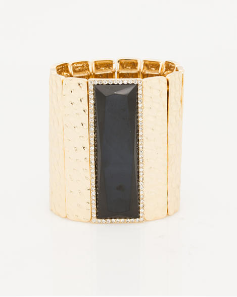 Le Chateau Hammered Metal Cuff, $22.00