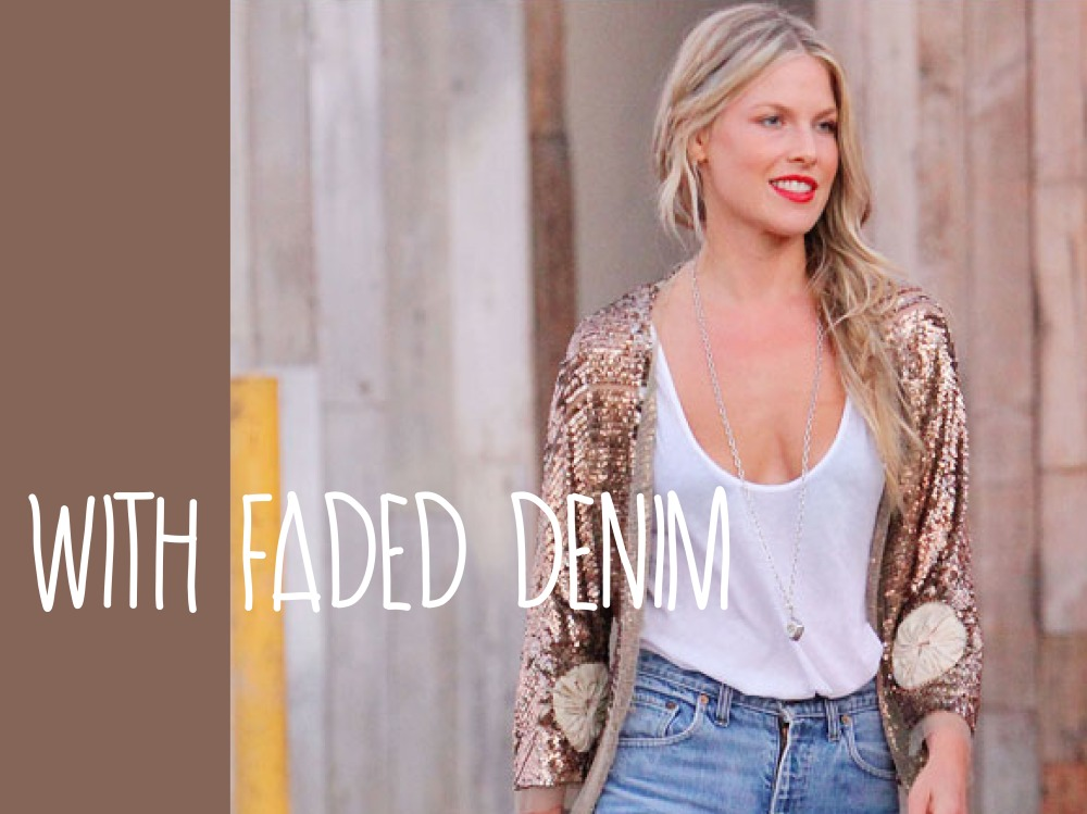 Daytime Sequins- Faded Denim